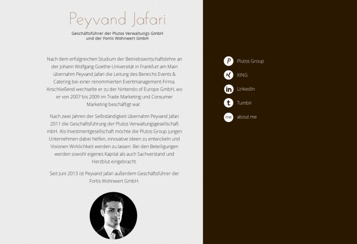 Webseite Peyvand Jafari